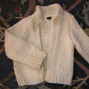 Urban Outfitters Luca Couture White Sweater Coat